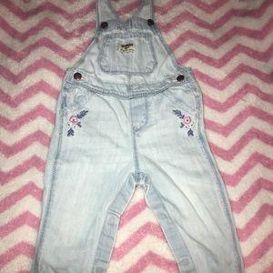 Light Jean overalls for girls